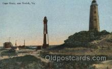 lgh001141 - Cape Henry, Va USA Lighthouse, Lighthouses Postcard Postcards
