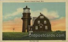 lgh001143 - Martha's Vineyard Island, Mass USA Lighthouse, Lighthouses Postcard Postcards