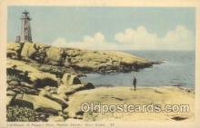 lgh001144 - Peggy's Cove, Halifax County USA Lighthouse, Lighthouses Postcard Postcards