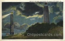 lgh001149 - New Cape Henry,Va. USA Lighthouse, Lighthouses Postcard Postcards