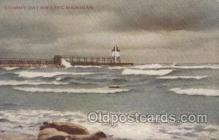 lgh001152 - Lake Michigan USA Lighthouses Postcard Post card