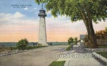 lgh001160 - Biloxi, Miss USA Lighthouse, Lighthouses Postcard Postcards