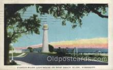 lgh001167 - Biloxi, Miss USA Lighthouse, Lighthouses Postcard Postcards