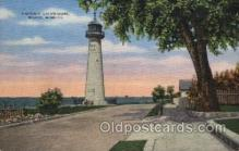 lgh001179 - Biloxi, Miss USA Lighthouse, Lighthouses Postcard Postcards