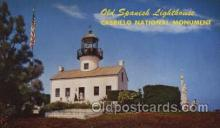 lgh001201 - Cabrillo National Monument USA Lighthouse, Lighthouses Postcard Postcards