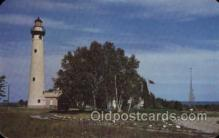 lgh001202 - Presque Isle light House,Michigan USA Lighthouse, Lighthouses Postcard Postcards