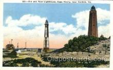 lgh002 - Cape Henry, VA Light House, Houses Postcard Postcards