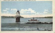 lgh100025 - Spring Point Ledge Light House, Portland Horbor, Maine Maine USA Postcards Postcards