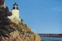 lgh100030 - Bass Harbor Head Maine USA Postcards Postcards