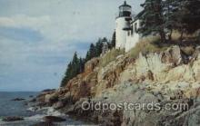 lgh100033 - Bass Harbor Head Maine USA Postcards Postcards