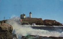 lgh100034 - Nubble Light York Beach, Maine, USA Maine USA Postcards Postcards