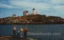 lgh100037 - Nubble Light York Beach, Maine, USA Maine USA Postcards Postcards