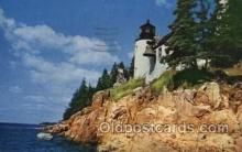 lgh100042 - Bass Harbor light Maine USA Postcards Postcards