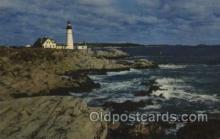 lgh100043 - Portland Head light Maine USA Postcards Postcards