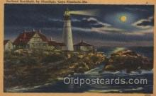 lgh100055 - portland Headlight, Cape Elizabeth, Me. Maine USA Postcards Postcards