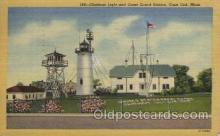 lgh200016 - Chatham light and Coast Guard Station, Cape Cod, Mass, USA Massachusetts USA, Light House, Houses Lighthouse, LightHouses Postcard Postcards