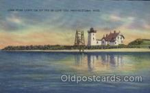 lgh200017 - Long Point light on tip end of Cape Cod Provincetown Mass, USA Massachusetts USA, Light House, Houses Lighthouse, LightHouses Postcard Postcards