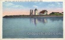 lgh200022 - Long Point light on tip end of Cape Cod Provincetown Mass, USA Massachusetts USA, Light House, Houses Lighthouse, LightHouses Postcard Postcards