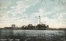 lgh200037 - Boston light, Mass, USA Massachusetts USA, Light House, Houses Lighthouse, LightHouses Postcard Postcards