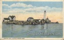 lgh200058 - Boston light, Mass, USA Massachusetts USA, Light House, Houses Lighthouse, LightHouses Postcard Postcards