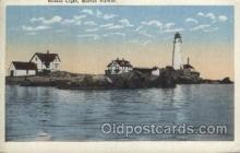 lgh200059 - Boston light, Mass, USA Massachusetts USA, Light House, Houses Lighthouse, LightHouses Postcard Postcards