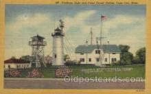 lgh200074 - Chatham light and Coast Guard Station, Cape Cod, Mass, USA Massachusetts USA, Light House, Houses Lighthouse, LightHouses Postcard Postcards