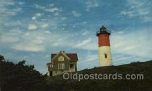 lgh200076 - Nauset Light at Eastham on Cape Cod, USA Massachusetts USA, Light House, Houses Lighthouse, LightHouses Postcard Postcards