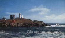 lgh200078 - Nubble Light York Beach, Maine, USA Massachusetts USA, Light House, Houses Lighthouse, LightHouses Postcard Postcards