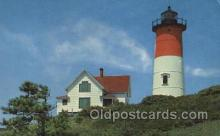 lgh200083 - Nauset Light at Eastham on Cape Cod, USA Massachusetts USA, Light House, Houses Lighthouse, LightHouses Postcard Postcards