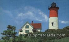 lgh200085 - Nauset Light at Eastham on Cape Cod, USA Massachusetts USA, Light House, Houses Lighthouse, LightHouses Postcard Postcards