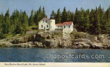 lgh200088 - Bass Harbor Head light, Mt. Dessert Island Massachusetts USA, Light House, Houses Lighthouse, LightHouses Postcard Postcards