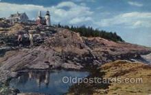lgh200093 - Peraquis light, Pemaquid, Maine, USA Massachusetts USA, Light House, Houses Lighthouse, LightHouses Postcard Postcards