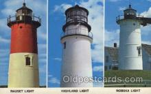 lgh200094 - Old light houses on Cape Cod, Mass, USA Massachusetts USA, Light House, Houses Lighthouse, LightHouses Postcard Postcards