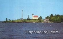lgh200101 - Copper Harbor Mich Light House Lake Superior Postcard Post Cards Old Vintage Antique