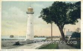 lgh200104 - Biloxi Light Biloxi, MS, USA Postcard Post Cards Old Vintage Antique