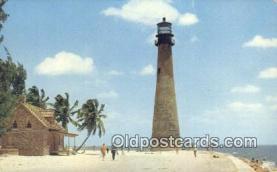 lgh200106 - Cape Florida Key Biscayne, FL, USA Postcard Post Cards Old Vintage Antique