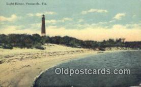 lgh200111 - Light House Pensacola, FL, USA Postcard Post Cards Old Vintage Antique