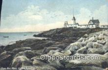 lgh200113 - Easter Point Light Cape Ann, MA, USA Postcard Post Cards Old Vintage Antique