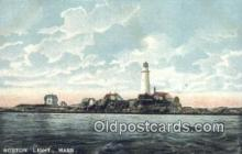 lgh200115 - Boston Light Boston, MA, USA Postcard Post Cards Old Vintage Antique