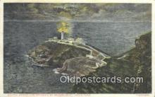 lgh200118 - South Stack Lighthouse Holyhead Postcard Post Cards Old Vintage Antique