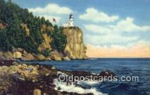 lgh200121 - Split Rock Lighthouse Lake Superior Postcard Post Cards Old Vintage Antique