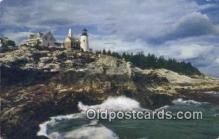 lgh200126 - Pemaquid Light Pemaquid, ME, USA Postcard Post Cards Old Vintage Antique