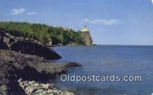 lgh200128 - Split Rock Lighthouse Lake Superior Postcard Post Cards Old Vintage Antique