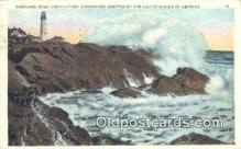 lgh200130 - Portland Head Light, First Lighthouse  Postcard Post Cards Old Vintage Antique