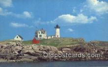 lgh200146 - Nubble Lighthouse York, ME, USA Postcard Post Cards Old Vintage Antique