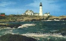lgh200149 - Portland Head Light, First Lighthouse Portland, ME, USA Postcard Post Cards Old Vintage Antique