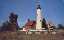 lgh200157 - Lonely Sentinel, Tawas Point Lighthouse  Postcard Post Cards Old Vintage Antique