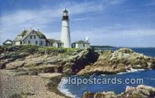 lgh200159 - Portland Head Light Casco Bay, Portland, ME, USA Postcard Post Cards Old Vintage Antique