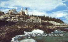 lgh200165 - Pemaquid Light Pemaquid, ME, USA Postcard Post Cards Old Vintage Antique