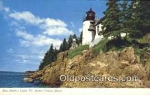 lgh200168 - Bass Harbor Light Mt Desert Island, ME, USA Postcard Post Cards Old Vintage Antique